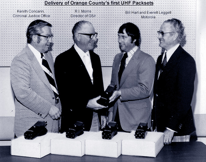 Delivery of Orange County's First UHF Packsets
