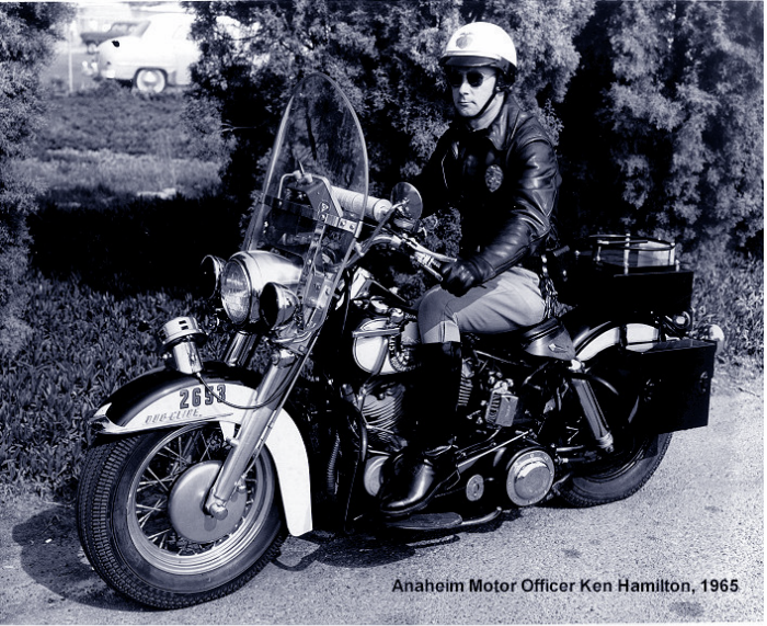 Anaheim Motor Officer Ken Hamilton, 1965