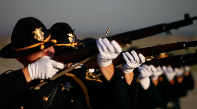 Honor Guard 21 gun salute