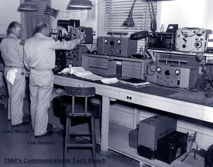 1960's Communications Tech Bench
